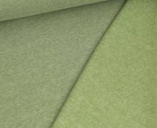 Kuschelsweat Light - Uni - Farngrün Meliert - Sweat Angeraut