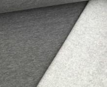 Kuschelsweat Light - Uni - Grau Meliert - Sweat Angeraut