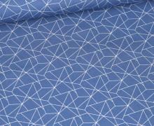 Baumwolle - Webware - Geometrisches Muster - Himmelblau