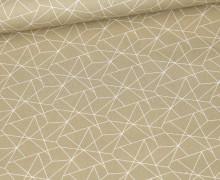 Baumwolle - Webware - Geometrisches Muster - Sand