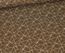 Baumwolle – Webware – Geometrisches Muster – Braun