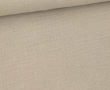 Musselin - Muslin - Double Gauze - Uni - Sand