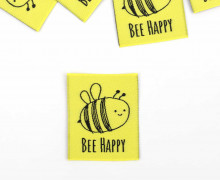 1 Label – BEE HAPPY – Gelb