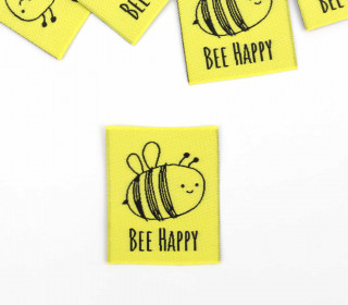 1 Label - BEE HAPPY - Gelb