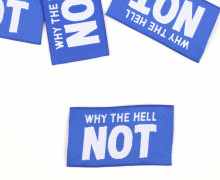 1 Label - WHY THE HELL NOT - Blau