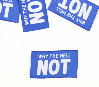 1 Label – WHY THE HELL NOT – Blau
