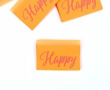 1 Label - Happy - Neonorange
