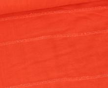 Baumwolle - Slub Streifen - Uni - Orangerot