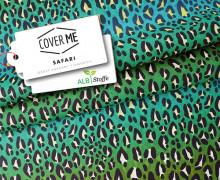 HeiQ Viroblock Filtervlies - COVER ME - FFP2 Cover - Hamburger Liebe - Safari - Grün