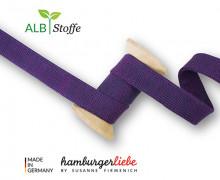 Hoodiekordel - Flachkordel - Cord Me - 12mm - Shine - Melange - Hamburger Liebe - Violett/Lila Dunkel