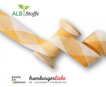 Flechtkordel - Hoodiekordel - Flat - Flach - Shine - Twist Me - Hamburger Liebe - Weiß/Maisgelb