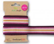 Streifenband - Stripe Me - College - 7 Stripes - Shine - Multi - Weiß/Maisgelb/Pink/Bordeaux/Silber - Hamburger Liebe