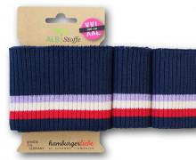 Bio-Bündchen - Ripped - 3 Stripes - Shine - Multi - Cuff Me - Hamburger Liebe - Stahlblau