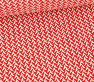 Bio-Elastic Minijacquard Jersey - 3D - In And Out Knit - Shine - Hamburger Liebe - Rot