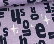 Bio-Jacquard – 3 Farb Spezial Jacquard Jersey – On – Shine – Lavendel – Hamburger Liebe