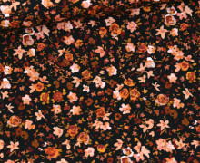Jersey - Small Painted Flowers - Schwarz