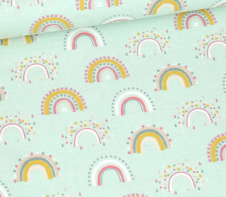 Flanell - Rainbow - Mint