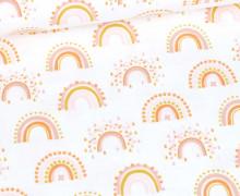 Flanell - Rainbow - Weiß