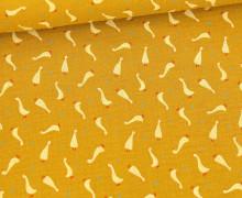 Musselin - Muslin - Double Gauze - Baby Goslings - Senfgelb