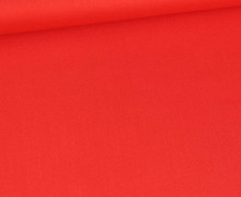Baumwolle - Webware - Poplin - Uni - 135g - Rot