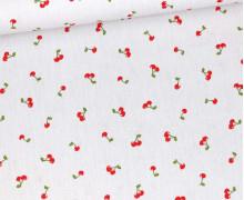 Baumwolle – Webware – Poplin – I Like You Cherry Much – Hellgrau