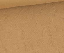 Lochstrick - Baumwolle - Regenbögen - Camelbraun