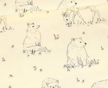 Sommersweat - Wonderful Woods - Fauna - Aquarell - Ecru - Bio Qualität - abby and me