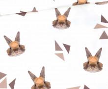 Jersey - Graphical Rabbit - Kombistoff - Bio-Qualität - Weiß - abby and me