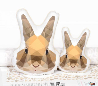 Kissenstoff - DIY - Graphical Rabbit - abby and me