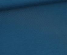 Modal Jersey - Weich - Uni - Meerblau