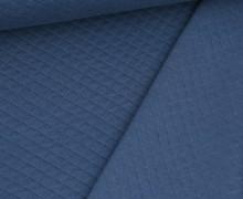 Steppstoff - Kleine Rauten - Fibre Mood - Jeansblau