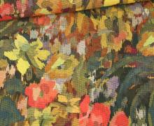 Leichter Viskose Krepp - Blumenmuster - Fibre Mood - Bunt
