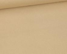 Canvas Stoff - feste Baumwolle - Uni - Fibre Mood - Beige
