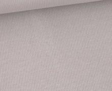 Jersey - Feine Rippen - 330g - Uni - Grau