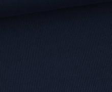 Jersey - Feine Rippen - 330g - Uni - Stahlblau