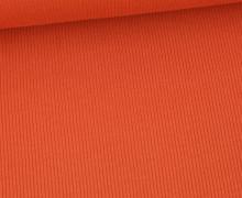 Jersey – Feine Rippen – 330g – Uni – Rostorange