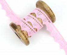 1 Meter Spitzenband - Baumwolle - Wellenkante - Rosa