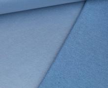 Beschichteter Sommersweat - French Terry - Uni - Taubenblau