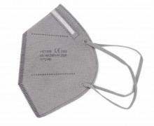 1 FFP2 Maske – 5 Lagig – Flexibler Nasenbügel – CE Zertifiziert – Einwegmaske – Grau