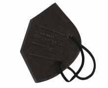 1 FFP2 Maske - 5 Lagig - Flexibler Nasenbügel - CE Zertifiziert - Einwegmaske - Schwarz