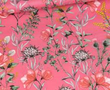 Baumwolle - Webware - Natural Beauty - Lachsrosa - Mohnblumen & Disteln - Gütermann