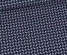 Baumwolle – Webware – Natural Beauty – Stahlblau – Sternblüten – Gütermann