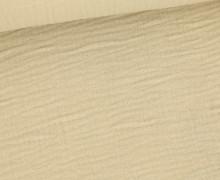 Musselin - Muslin - Double Gauze - 150g - Uni - Sand