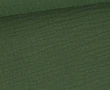 Musselin – Muslin – Double Gauze – 150g – Uni – Olivgrün