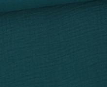 Musselin – Muslin – Double Gauze – 150g – Uni – Petrol