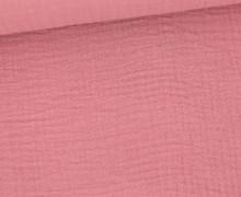 Musselin – Muslin – Double Gauze – 150g – Uni – Altrosa