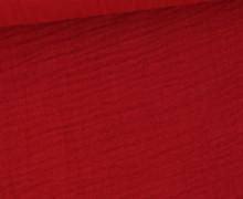 Musselin – Muslin – Double Gauze – 150g – Uni – Dunkelrot
