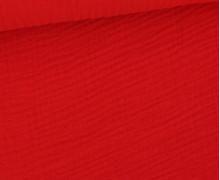 Musselin - Muslin - Double Gauze - 150g - Uni - Rot