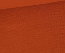 Musselin - Muslin - Double Gauze - 150g - Uni - Rostorange