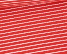 Jersey - Gestrichelte Streifen - Rot/Weiß